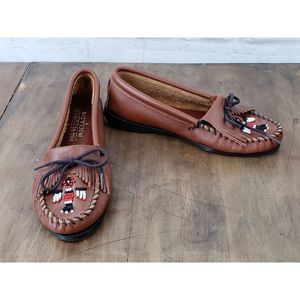 Minnetonka Thunderbird Leather Moccasins ~ NWOB ~8